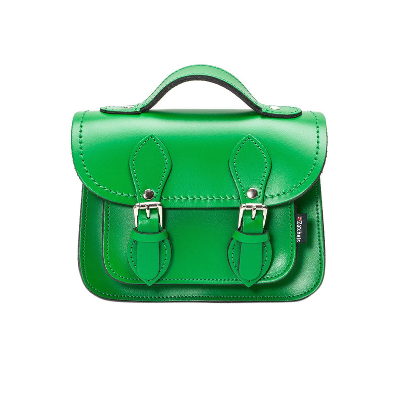 Green Leather Micro Satchel - Micro Satchel - Zatchels