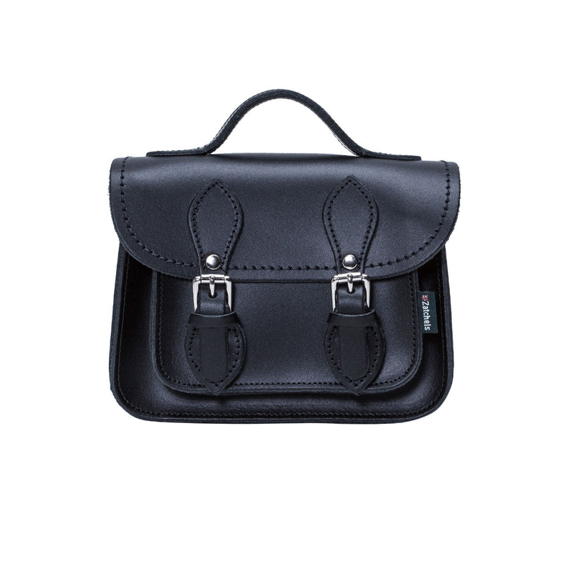 Navy Leather Micro Satchel - Micro Satchel - Zatchels