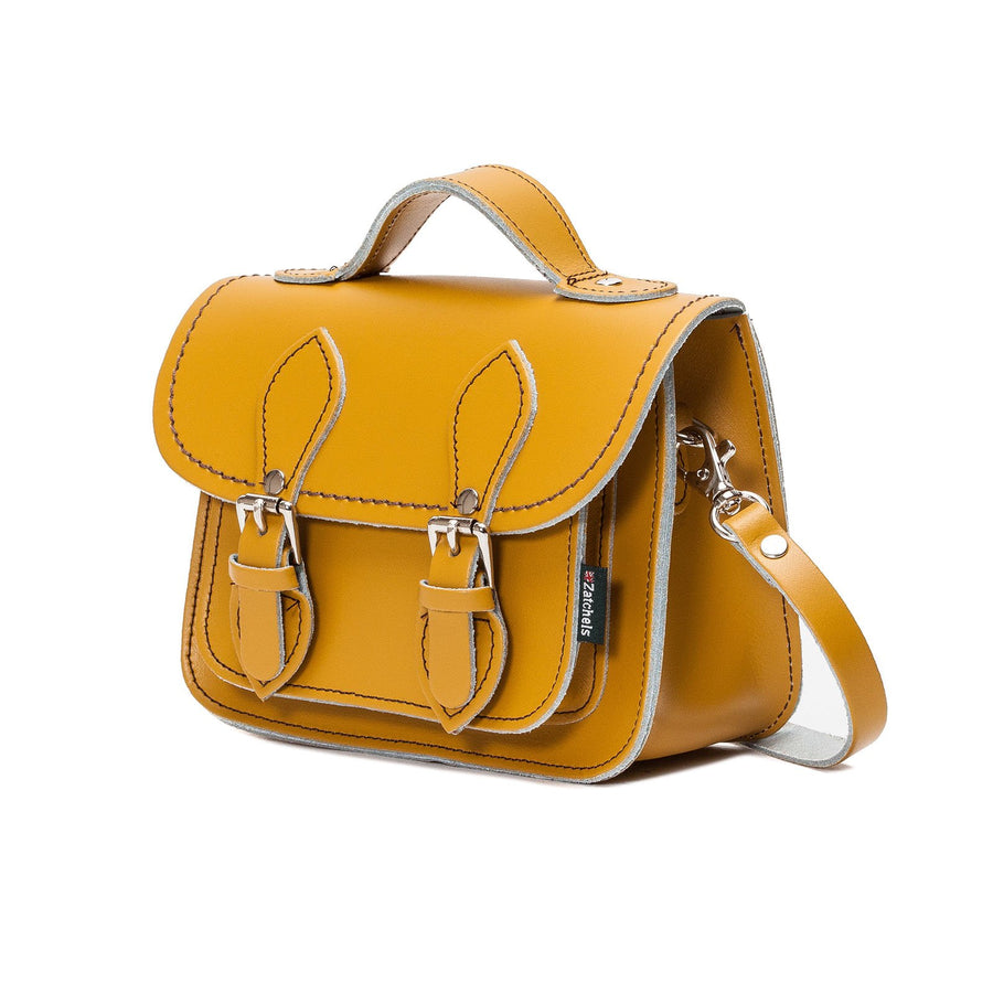 Yellow Ochre Leather Micro Satchel - Micro Satchel - Zatchels