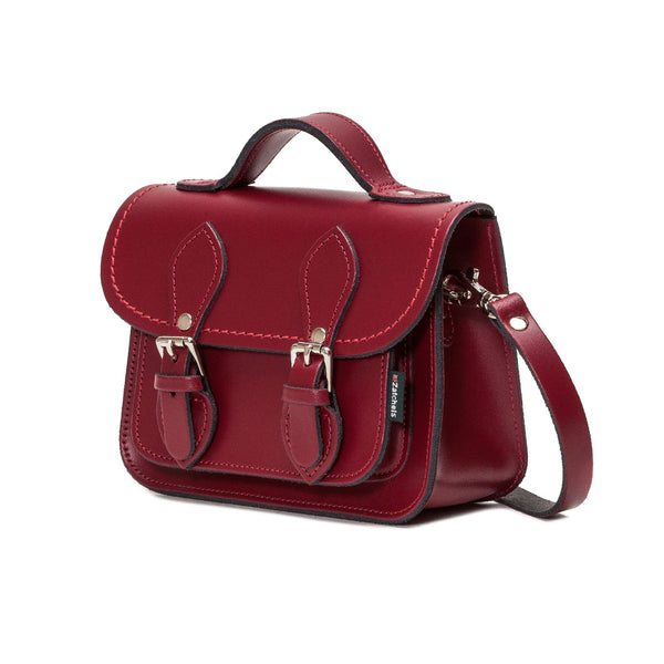Oxblood Leather Micro Satchel - Micro Satchel - Zatchels