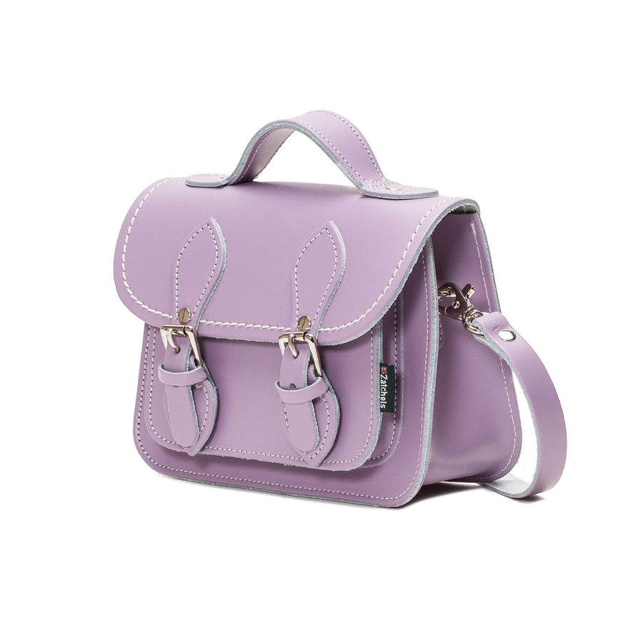 Pastel Violet Leather Micro Satchel