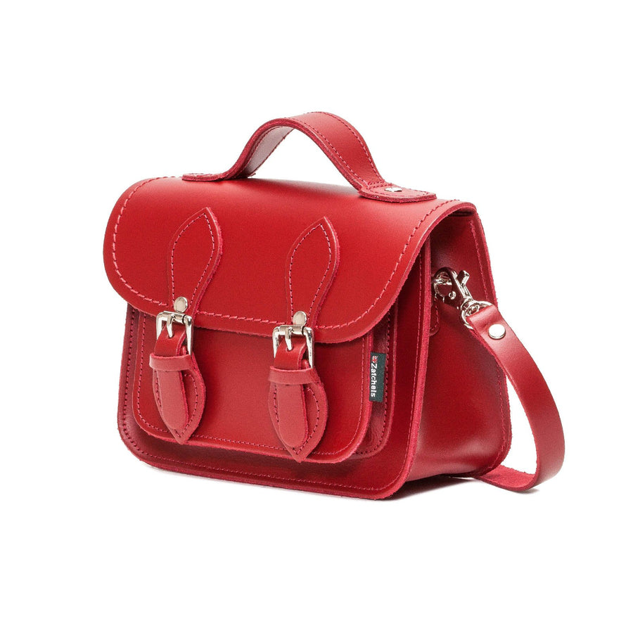 Red Leather Micro Satchel - Micro Satchel - Zatchels