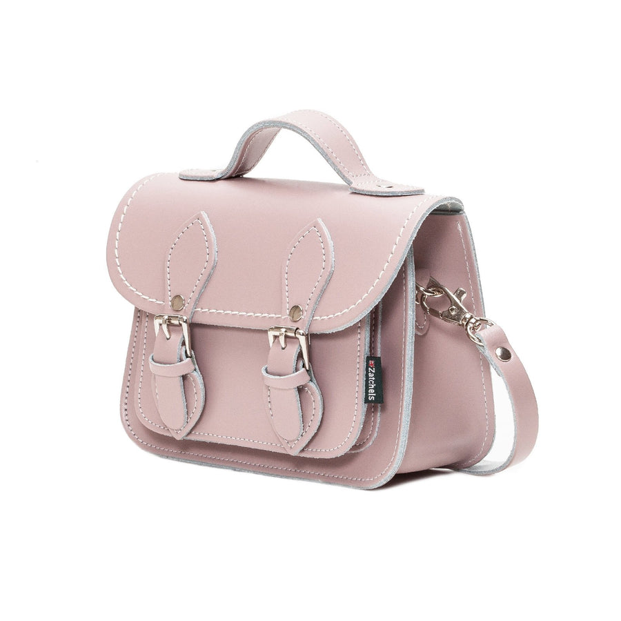 Rose Quartz Leather Micro Satchel - Micro Satchel - Zatchels