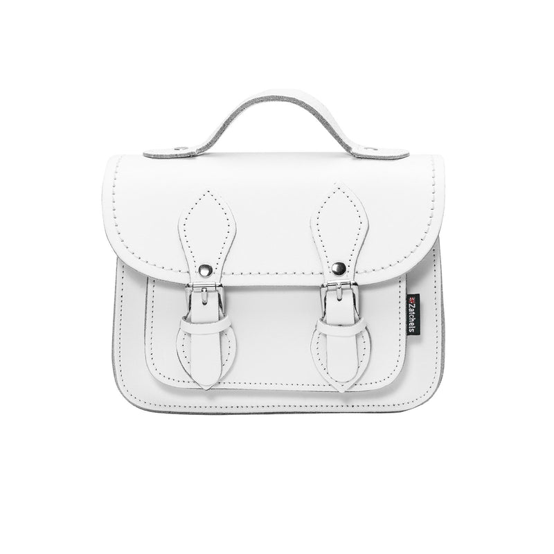White Leather Micro Satchel - Micro Satchel - Zatchels