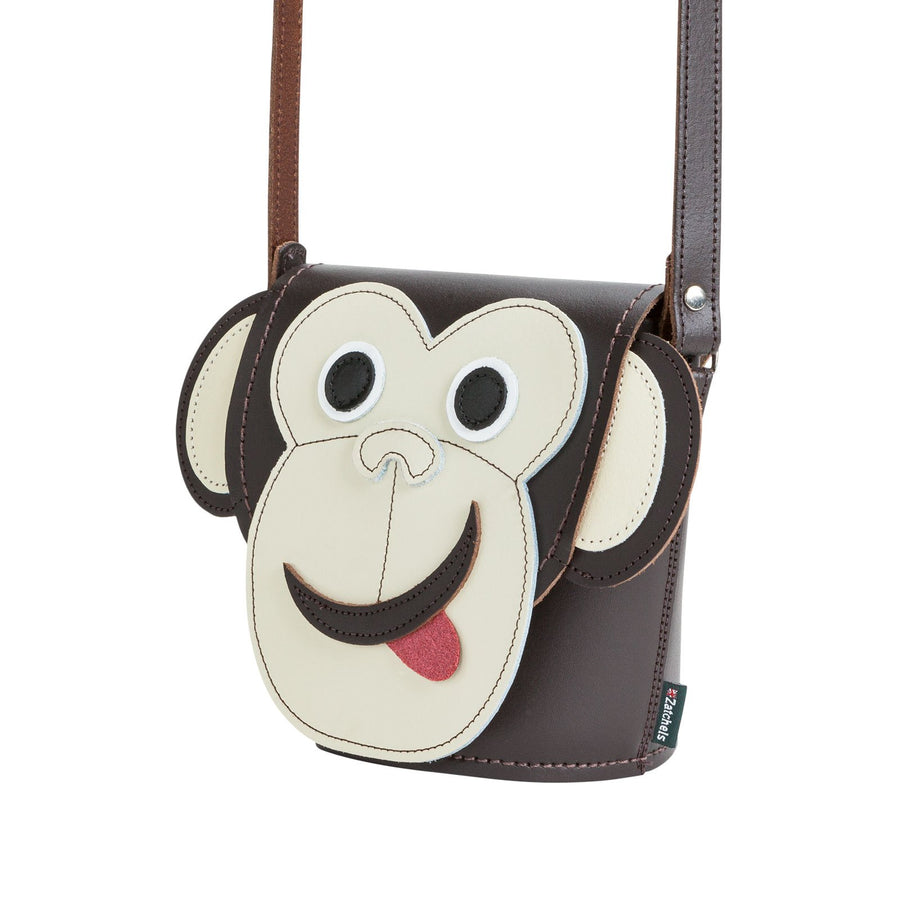 Mikey Monkey Leather Bag - Novelty Bag - Zatchels