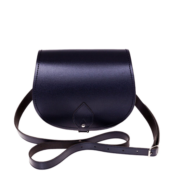 Navy Leather Saddle Bag - Saddle Bag - Zatchels