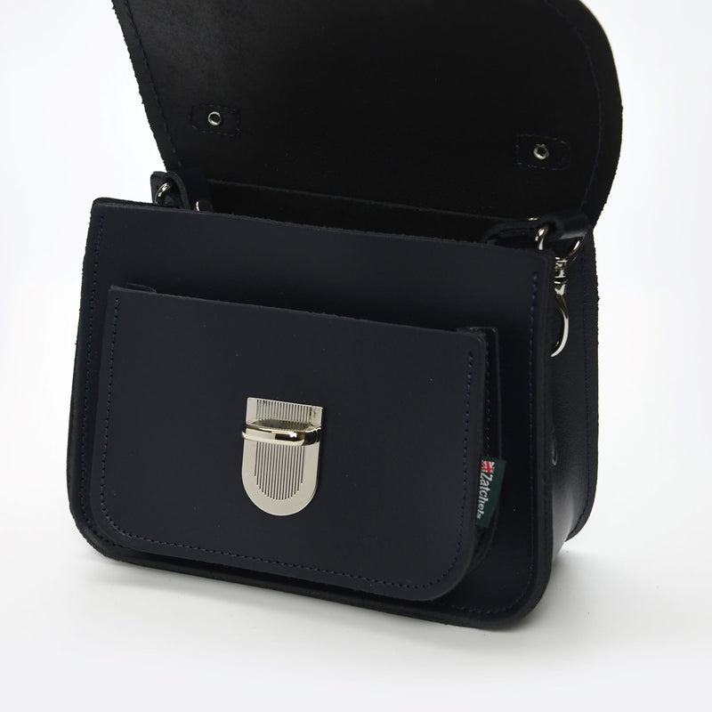 Luna Handmade Leather Bag - Navy