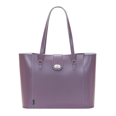 Nile Leather Twist Lock Shopper - Shopper - Zatchels