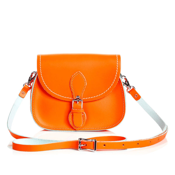 Orange Leather Micro Saddle - Micro Saddle - Zatchels