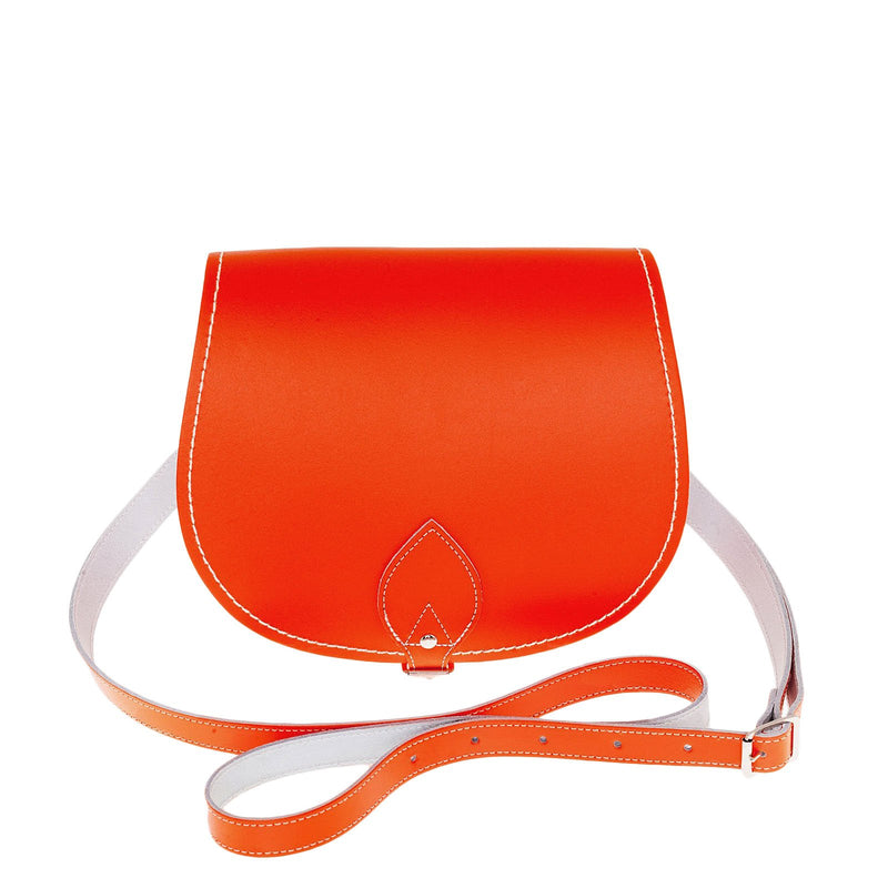Orange Leather Saddle Bag - Saddle Bag - Zatchels