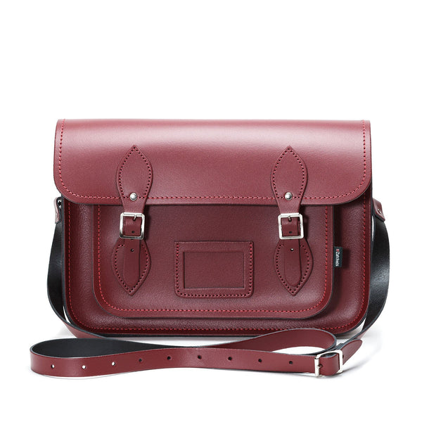 Oxblood Leather Satchel - Satchel - Zatchels