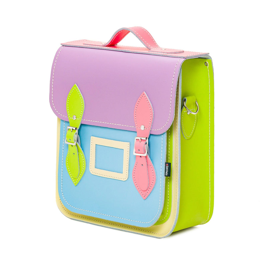 Pastel Kaleidoscope Leather City Backpack - Backpack - Zatchels
