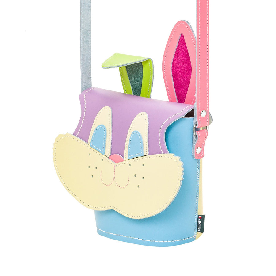 Pastel Kaleidoscope Jack Rabbit Leather Bag - Novelty Bag - Zatchels