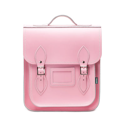 Pastel Pink Leather City Backpack - Backpack - Zatchels