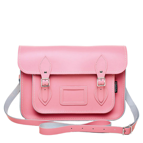 Pastel Pink Leather Satchel - Satchel - Zatchels