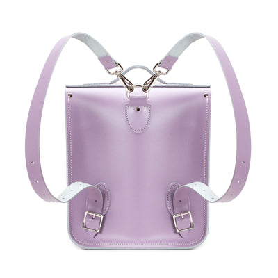 Pastel Violet Leather City Backpack - Backpack - Zatchels