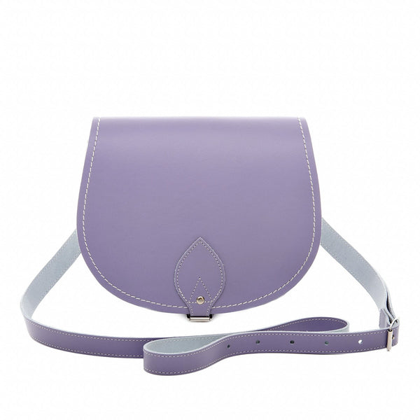 Pastel Violet Leather Saddle Bag - Saddle Bag - Zatchels