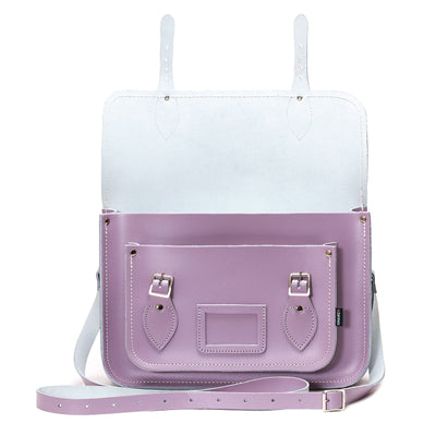 Pastel Violet Leather Satchel - Satchel - Zatchels