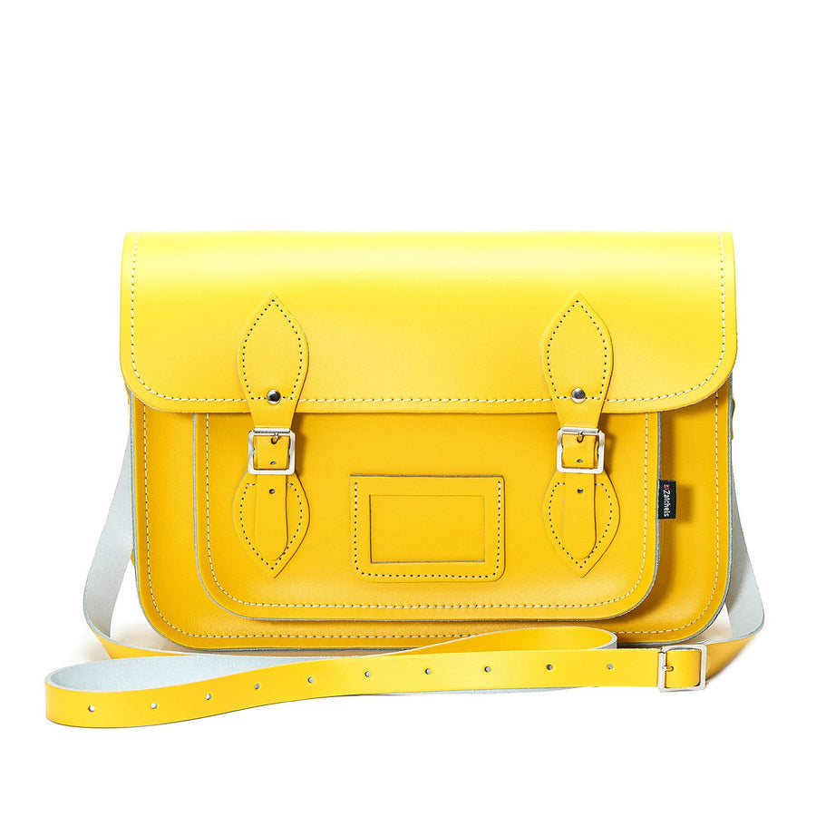 Pastel Daffodil Yellow Leather Satchel - Satchel - Zatchels