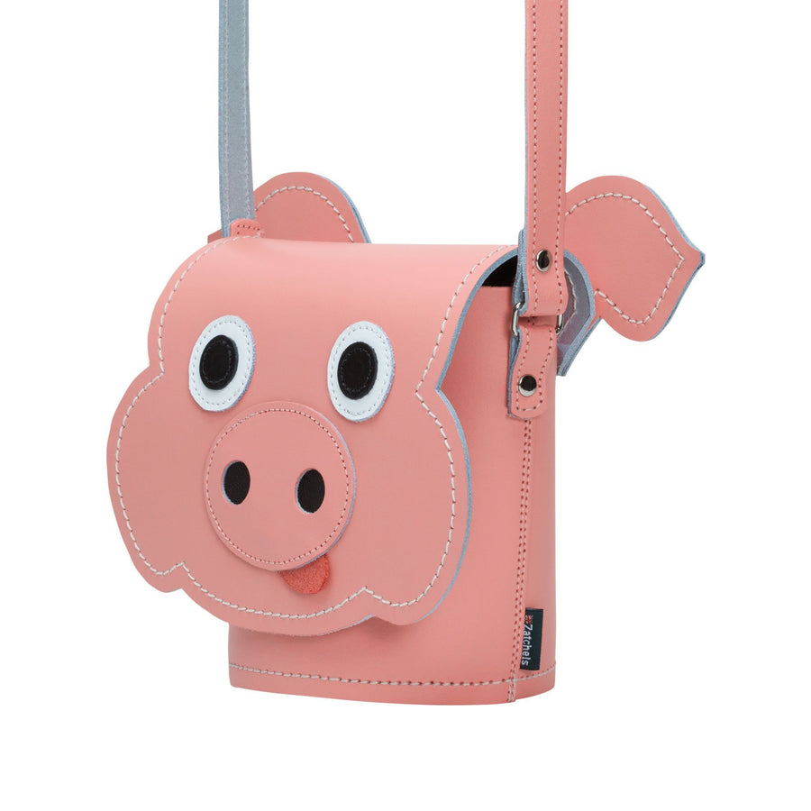 Polly Pig Leather Bag - Novelty Bag - Zatchels