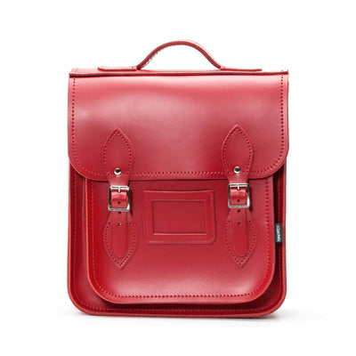 Red Leather City Backpack - Backpack - Zatchels