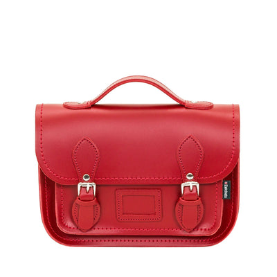Red Leather Midi Satchel - Midi Satchel - Zatchels