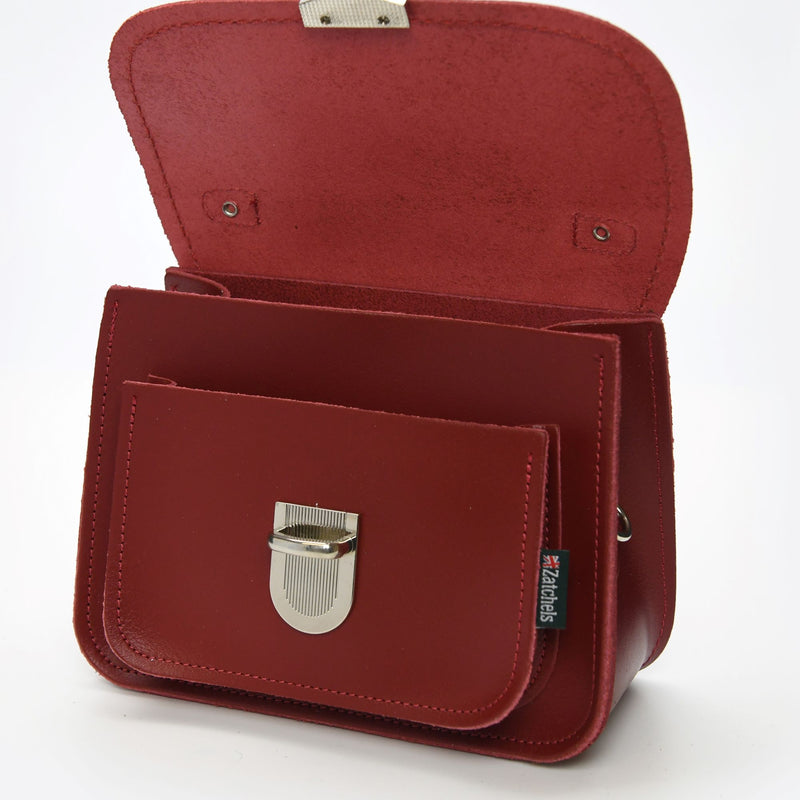 Luna Handmade Leather Bag - Red