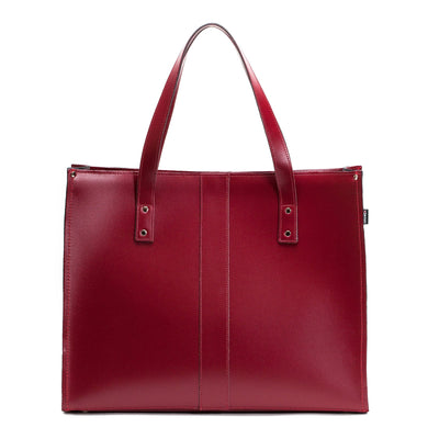 Oxblood Leather Shopper - Shopper - Zatchels