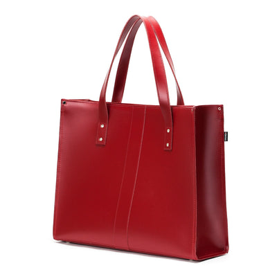 Red Leather Shopper - Shopper - Zatchels