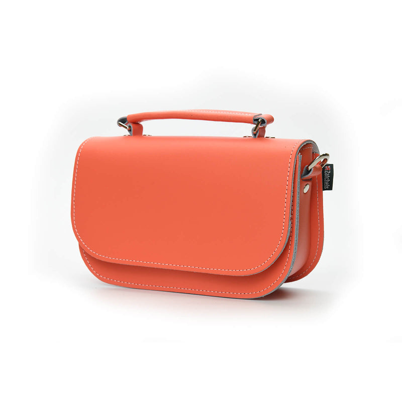 Aura Handmade Leather Bag - Coral