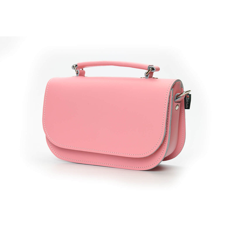 Aura Handmade Leather Bag - Pastel Pink