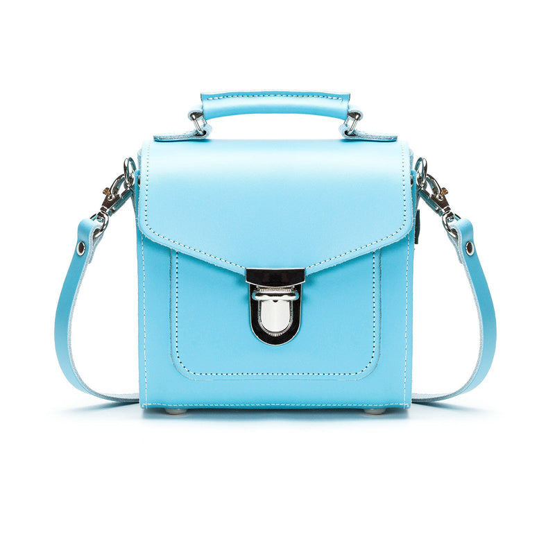 Pastel Baby Blue Leather Sugarcube - Sugarcube - Zatchels