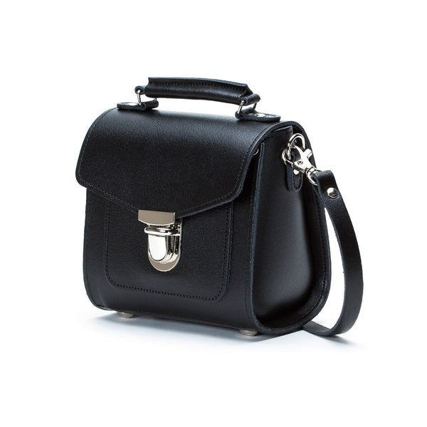 Black Leather Sugarcube - Sugarcube - Zatchels