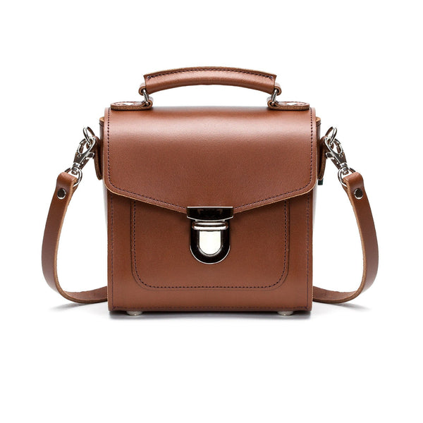 Chestnut Leather Sugarcube - Sugarcube - Zatchels