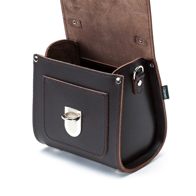 Dark Brown Leather Sugarcube - Sugarcube - Zatchels