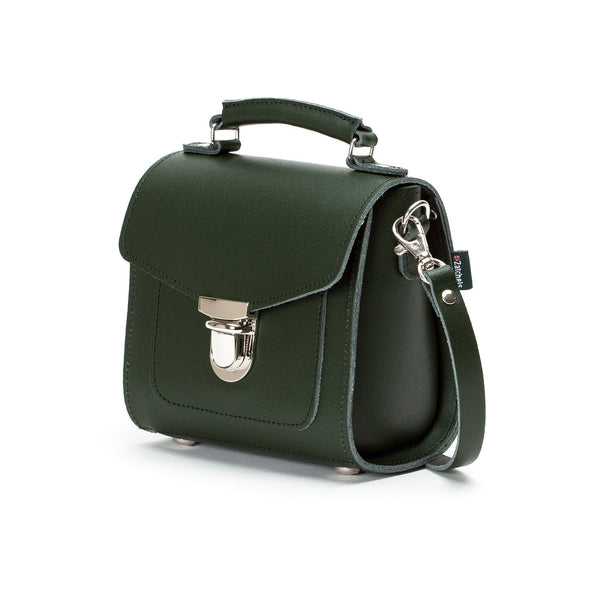 Ivy Green Leather Sugarcube - Sugarcube - Zatchels