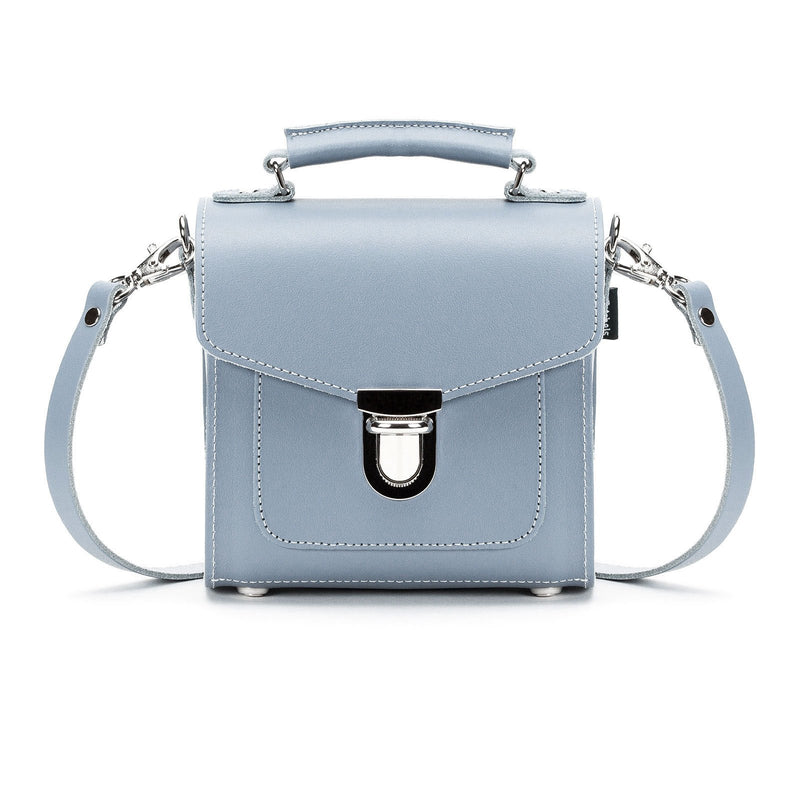 Lilac Grey Leather Sugarcube - Sugarcube - Zatchels