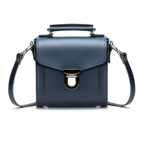 Navy Leather Sugarcube - Sugarcube - Zatchels