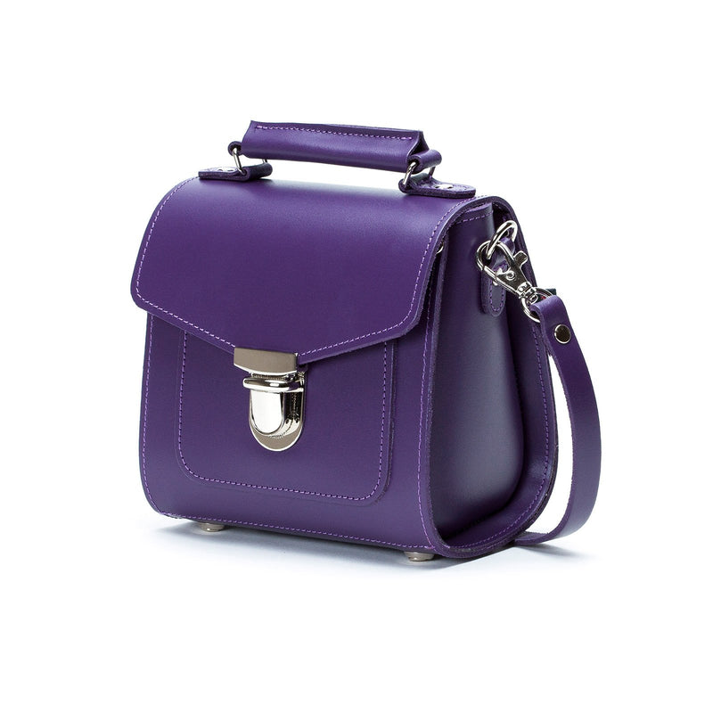 Purple Leather Sugarcube - Sugarcube - Zatchels