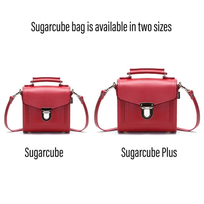 Red Leather Sugarcube - Sugarcube - Zatchels