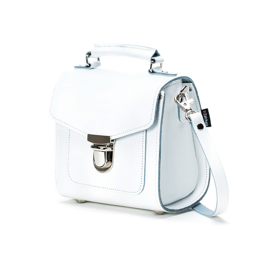 White Leather Sugarcube - Sugarcube - Zatchels
