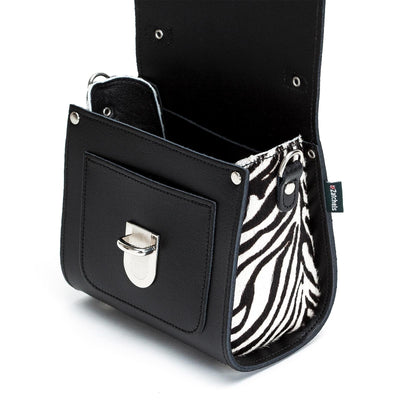 Zebra Leather Sugarcube - Sugarcube - Zatchels