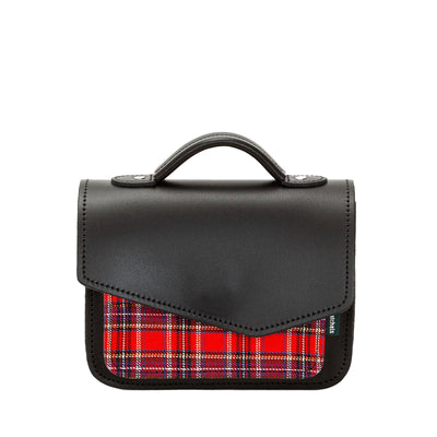 Red Tartan Leather Mini Cross Body Bag - Cross Body Bag - Zatchels