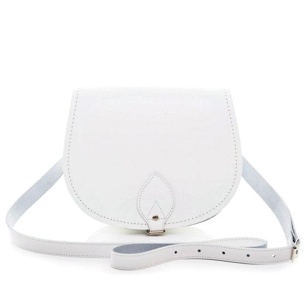 White Leather Saddle Bag - Saddle Bag - Zatchels