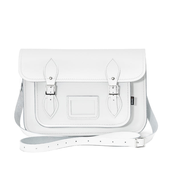White Leather Satchel - Satchel - Zatchels