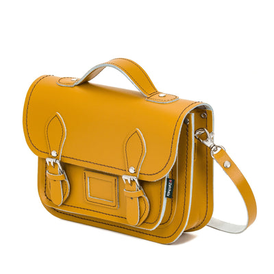 Yellow Ochre Leather Midi Satchel - Midi Satchel - Zatchels