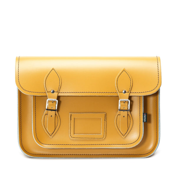Yellow Ochre Leather Satchel - Satchel - Zatchels