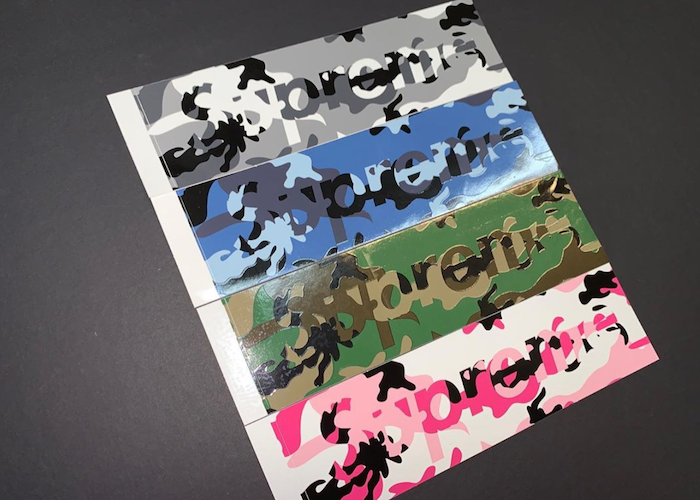 SUPREME CAMO BOX LOGO STICKER PACK (2020FW)