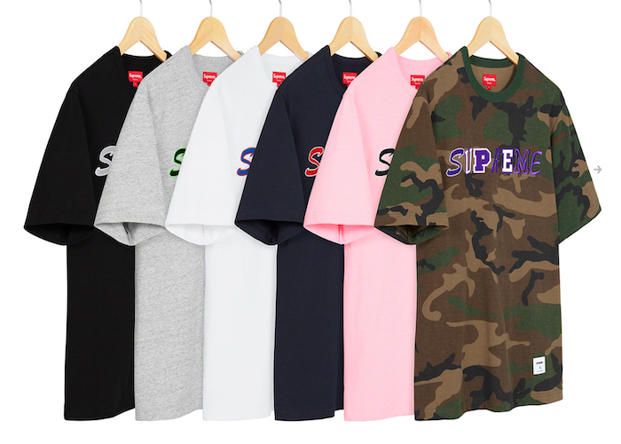 SUPREME COLLAGE LOGO SS TOP (2020FW)