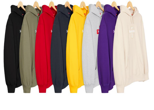 SUPREME CROSS BOX LOGO HOODED SWEATSHIRT (2020FW)